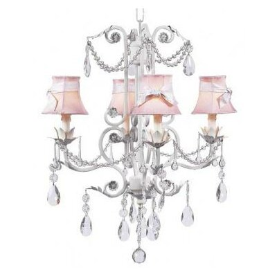 Chandelier Sash (Set of 5) Color: Pink Checks