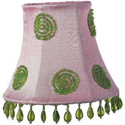 5 Silk Bell Candelabra Shade (Set of 2) Swirl Color: Green