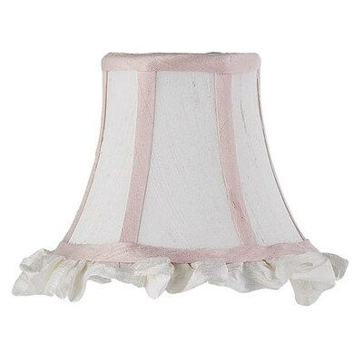 5 Silk Bell Candelabra Shade (Set of 2) Color: White with Pink Trim