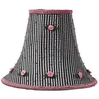 10.25 Silk Bell Lamp Shade Color: Black