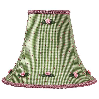 10.25 Silk Bell Lamp Shade Color: Green