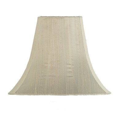 12 Silk Bell Lamp Shade Color: Taupe