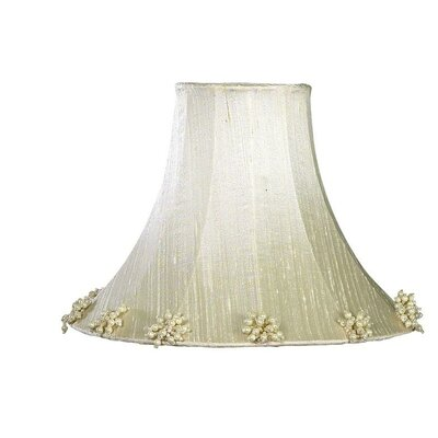 Pearl Burst 16 Silk Bell Lamp Shade Color: Ivory