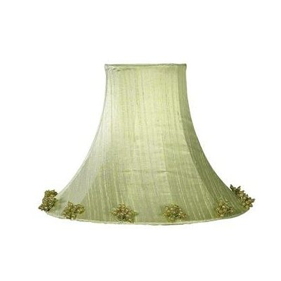 Pearl Burst 16 Silk Bell Lamp Shade Color: Green