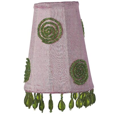 3.25 Silk Empire Candelabra Shade (Set of 2) Swirl Color: Green