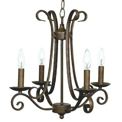 Harp 4-Light Candle-Style Chandelier Finish: Mocha