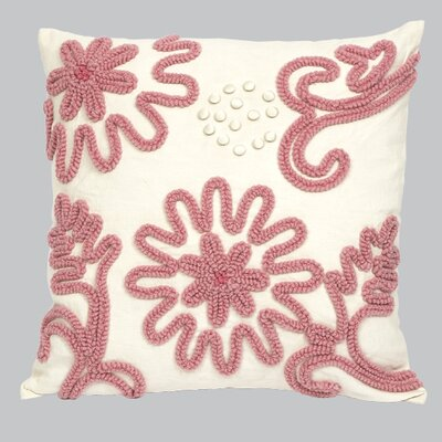 Chenille Throw Pillow Color: Pink