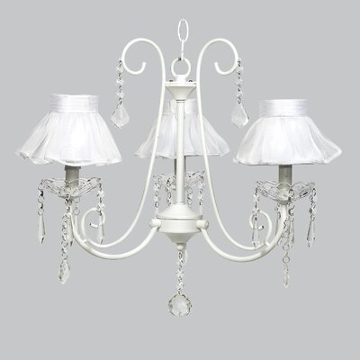 Bliss 3-Light Shaded Chandelier Shade Color: White