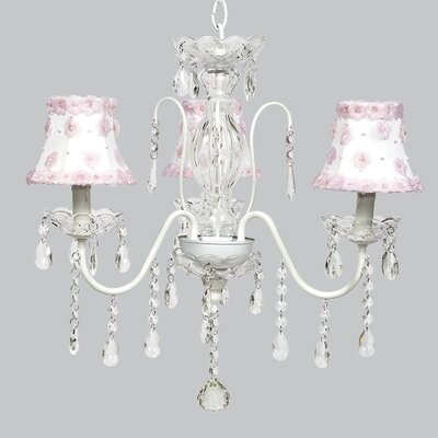 Jewel 3-Light Shaded Chandelier