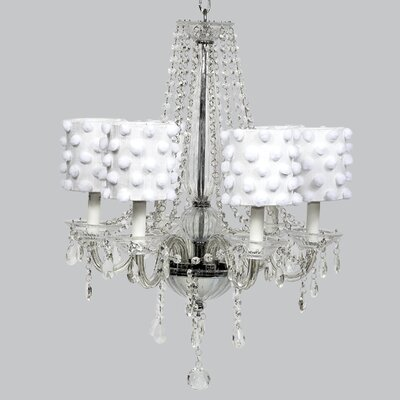 Middleton 6-Light Crystal Chandelier Shade Color: White