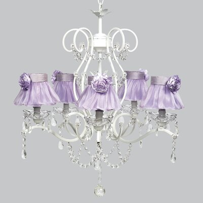 Grace 5-Light Shaded Chandelier Shade Color: Lavender