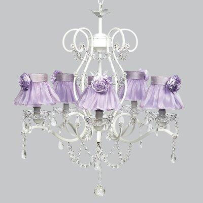 Grace 5-Light Shaded Chandelier Shade Color: Lavender
