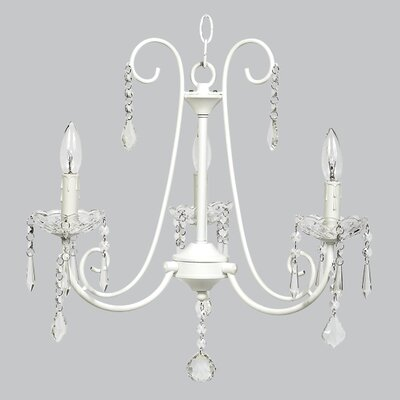 Bliss 3-Light Crystal Chandelier