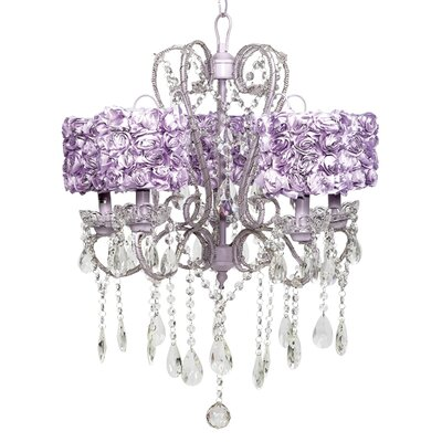 Whimsical 5-Light Crystal Chandelier Shade Color: Lavender