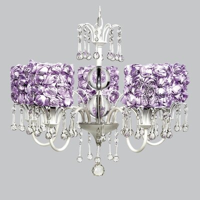 Wistful 5-Light Crystal Chandelier Shade Color: Lavender