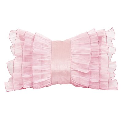 Ruffle Throw Pillow Color: Pink