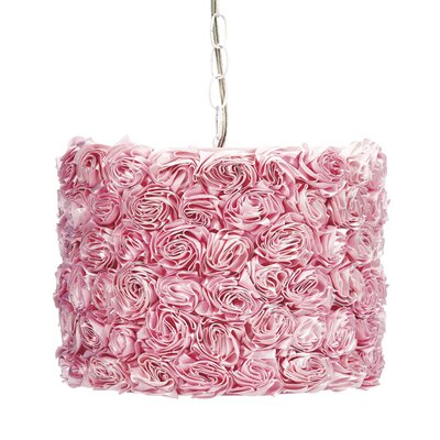 1-Light Drum Pendant Shade Color: Pink