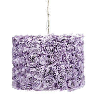 1-Light Drum Pendant Shade Color: Lavender
