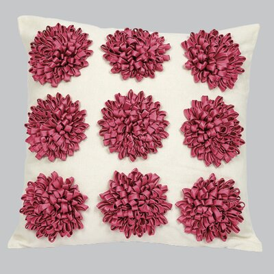 9 Dahlias Flowers Throw Pillow Color: Pink