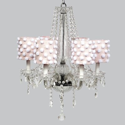 Middleton 6-Light Crystal Chandelier Shade Color: Pink