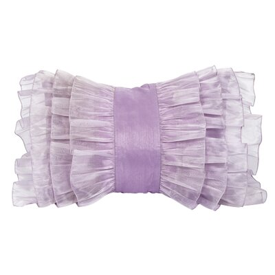 Ruffle Throw Pillow Color: Lavender