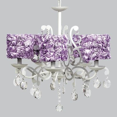 Elegance 5-Light Shaded Chandelier Shade Color: Lavender