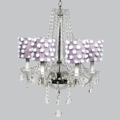 Middleton 6-Light Crystal Chandelier Shade Color: Lavender