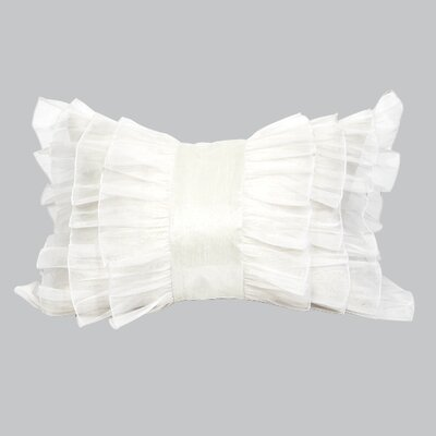 Ruffle Throw Pillow Color: White