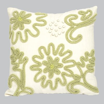 Chenille Throw Pillow Color: Green