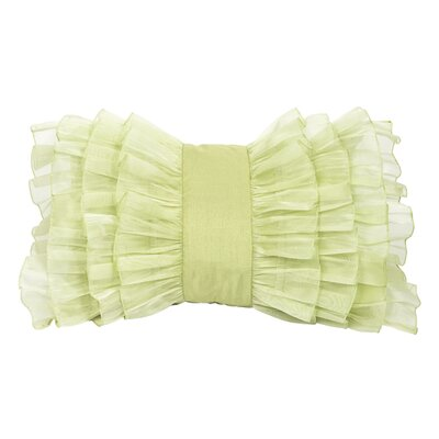 Ruffle Throw Pillow Color: Green