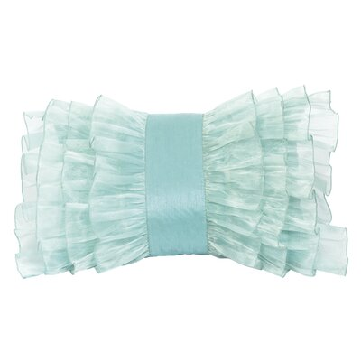 Ruffle Throw Pillow Color: Turquoise
