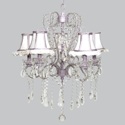 Whimsical 5-Light Crystal Chandelier