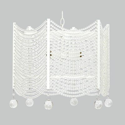 Swag 3-Light Crystal Chandelier Shade Color: White