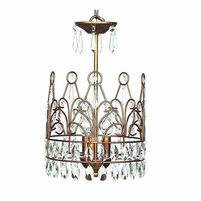 3-Light Crystal Chandelier Finish: Gold