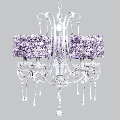 Colleen 5-Light Crystal Chandelier Shade Color: Lavender