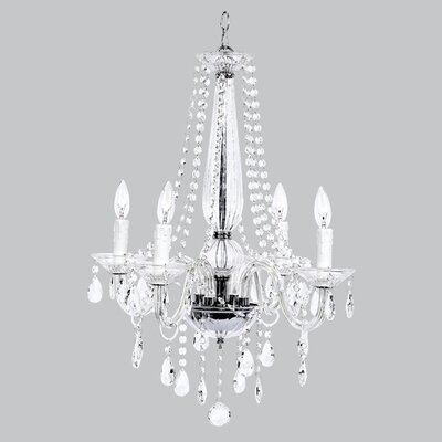 Middleton Glass 4-Light Crystal Chandelier