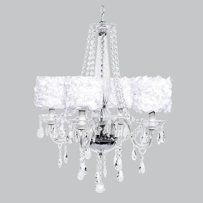 Middleton 4-Light Crystal Chandelier Shade Color: White