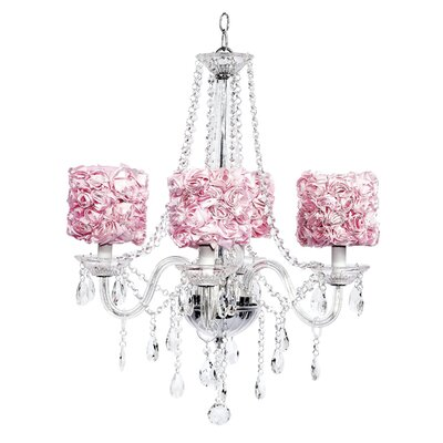 Middleton 4-Light Crystal Chandelier Shade Color: Pink
