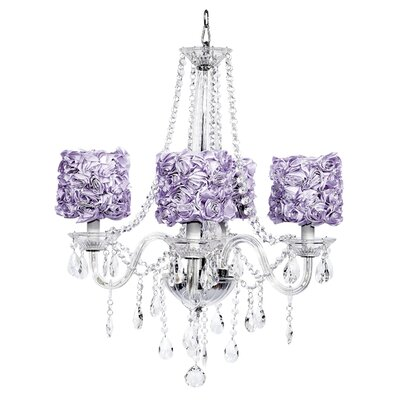 Middleton 4-Light Crystal Chandelier Shade Color: Lavender