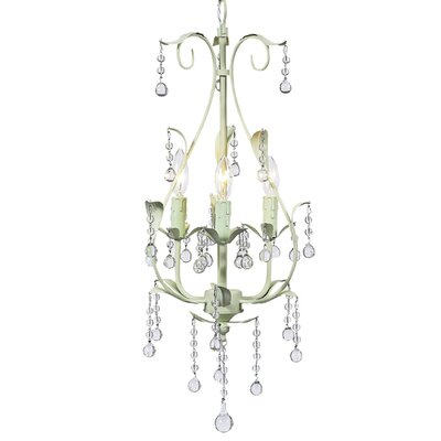 Pear 3-Light Candle-Style Chandelier Finish: Soft Green