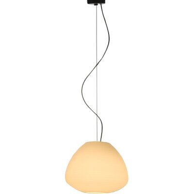 Perseo 1-Light Mini Pendant Finish: White Satin, Size: 69.29 H x 11 W x 11 D