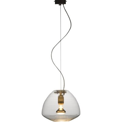 Perseo 1-Light Mini Pendant Finish: Transparent, Size: 69.29 H x 11 W x 11 D