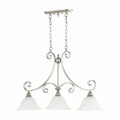 Asher 3-Light Kitchen Island Pendant Finish: Classic Nickel