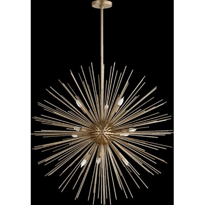 Electra 10-Light Pendant Finish: Aged Silver Leaf