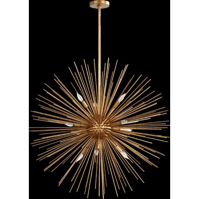 Electra 10-Light Pendant Finish: Gold Leaf