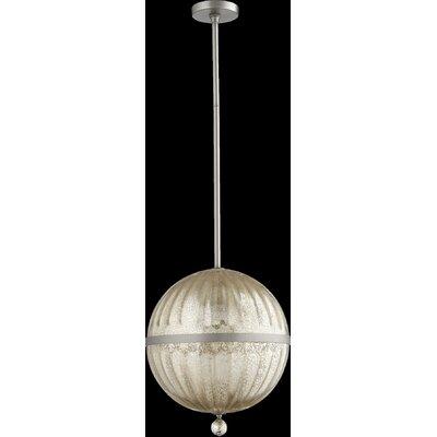 Globe Pendant Size: 21.75 H x 16.75 W x 14 D