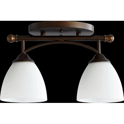 Hewlett 2-Light Semi Flush Mount