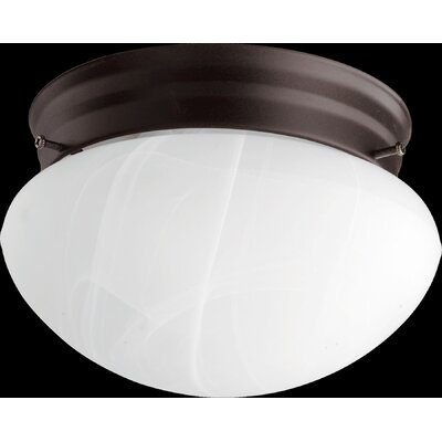 60W Flush Mount Size: 4.5 H x 7 W x 7 D, Finish: Oiled Bronze