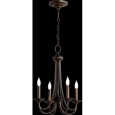 Brooks 4-Light Candle-Style Chandelier Finish: Oiled Bronze