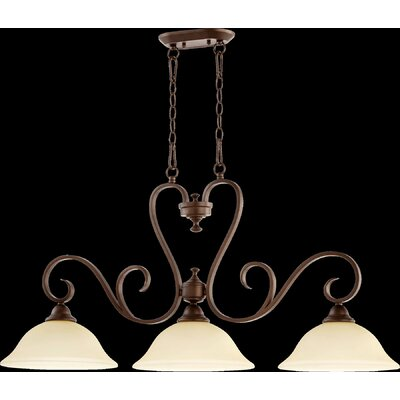 Celesta 3-Light Island Pendant Finish: Oiled Bronze